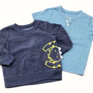 Carter's short sleeve top and long sleeve sweater